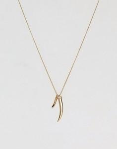 Короткое ожерелье с подвеской Orelia - Золотой