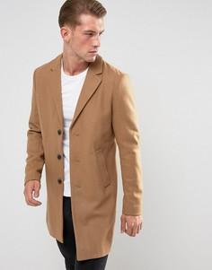 Шерстяное пальто Jack & Jones Premium - Рыжий