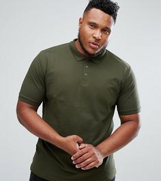 Облегающая футболка-поло Only & Sons PLUS - Зеленый