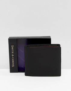 Черный кожаный бумажник Smith And Canova - Черный