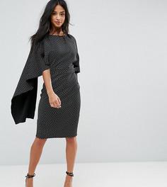 Платье миди в горошек City Goddess Petite - Черный
