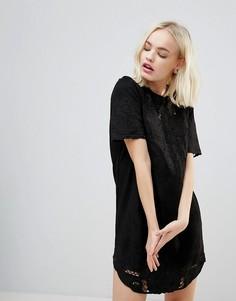Платье из искусственной замши Hazel - Черный