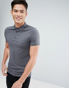 Облегающее трикотажное поло ASOS - Серый