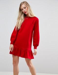 Трикотажное платье ASOS - Красный