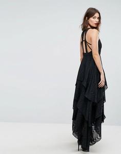 Платье макси с ярусным дизайном Y.A.S - Черный