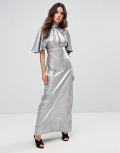 Платье макси с вырезами Liquorish - Серебряный