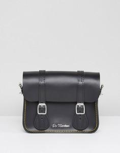 Черный кожаный портфель 7 дюймов Dr Martens - Черный