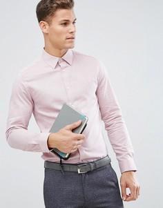 Строгая узкая рубашка добби Burton Menswear - Красный