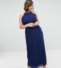 Плиссированное платье макси TFNC Plus WEDDING - Темно-синий