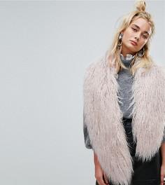Меховой шарф Urbancode - Розовый