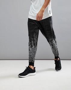 Черные меланжевые спортивные штаны adidas ZNE Pulse Knit BQ4840 - Черный
