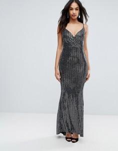 Платье макси цвета металлик Jessica Wright - Серебряный