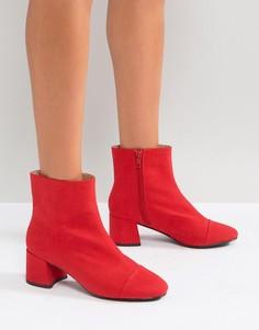 Ботильоны на среднем каблуке Miss Selfridge - Красный