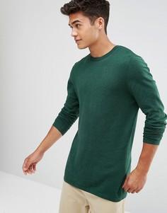Зеленый хлопковый джемпер ASOS - Зеленый