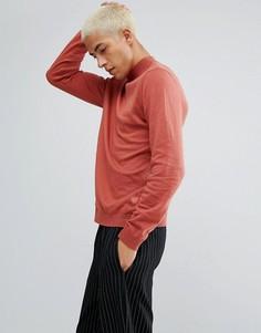 Хлопковый джемпер рыжего цвета с высоким воротом ASOS - Коричневый