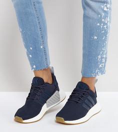 Темно-синие кроссовки adidas Originals NMD R2 - Темно-синий