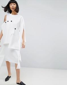 Платье миди ASOS WHITE - Мульти