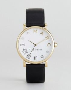 Часы с черным кожаным ремешком Marc Jacobs Classic MJ1599 - Черный