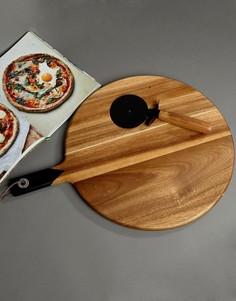 Нож для пиццы с подносом Gentlemens Hardware - Мульти