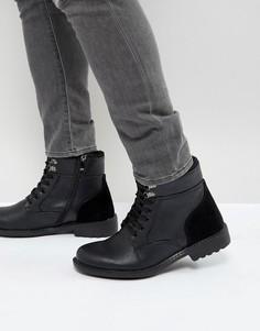 Черные ботинки на шнуровке Brave Soul - Черный