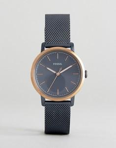 Часы с сетчатым ремешком Fossil ES4312 Neely - Синий