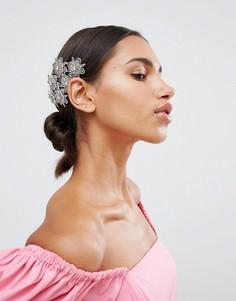 Заколка для волос с кристаллами ASOS - Серебряный
