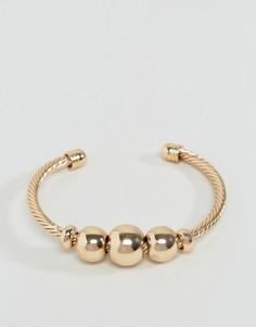 Браслет-манжета с шарами ASOS - Золотой