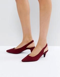 Туфли с ремешком через пятку и высоким передом New Look - Красный