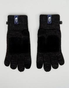 Черные трикотажные перчатки с замшевыми накладками The North Face Etip - Черный