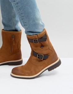 Коричневые кожаные ботинки с пряжками UGG Jaren Treadlite - Бежевый