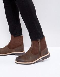 Кожаные ботинки на молнии UGG Dalvin Treadlite - Коричневый
