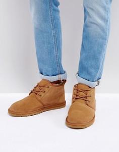 Замшевые ботинки со шнуровкой UGG Neumel - Бежевый