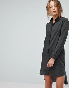 Платье-рубашка в полоску Bolongaro Trevor - Черный
