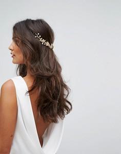 Драпированное украшение для волос с цветами LoveRocks London - Золотой