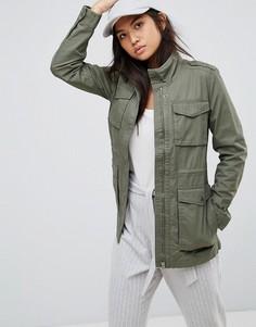 Пальто в стиле милитари Tommy Hilfiger Denim - Зеленый