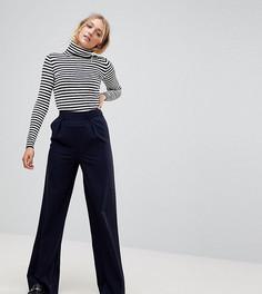 Широкие брюки со складками ASOS TALL - Темно-синий
