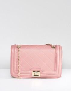 Розоватая стеганая сумка через плечо Marc B Clarissa - Розовый
