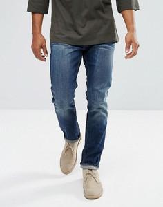 Светло-серые выбеленные узкие джинсы Bellfield - Синий