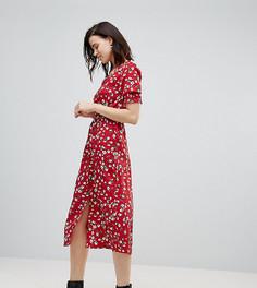 Платье миди с цветочным принтом Influence Tall - Красный