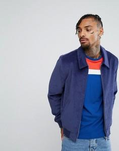 Синяя вельветовая куртка Харрингтон ASOS - Темно-синий