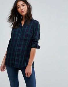 Рубашка в клетку Esprit - Синий