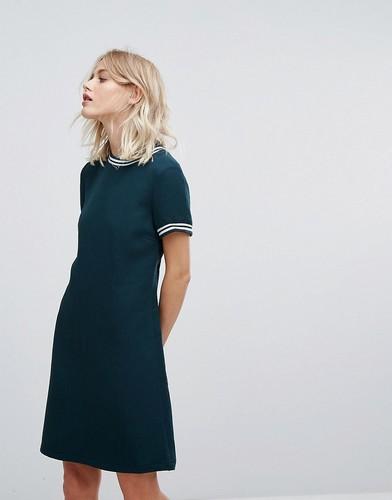 Платье с контрастным кантом в рубчик Esprit - Зеленый
