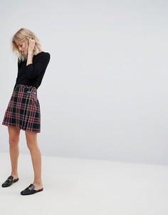 Плиссированная юбка с принтом тартан Esprit - Мульти