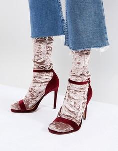 Телесные бархатные носки ASOS - Кремовый