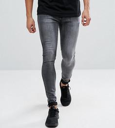 Серые выбеленные джинсы скинни Liquor N Poker - Серый