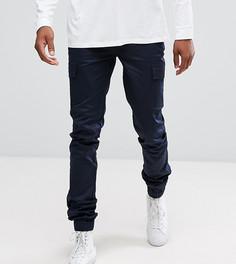 Темно-синие тканые брюки-карго скинни ASOS TALL - Темно-синий