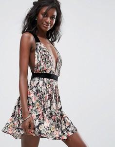Платье с цветочным принтом и открытой спиной Majorelle April - Мульти