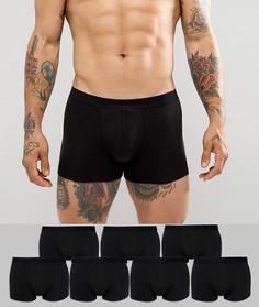 Комплект из 7 боксеров-брифов черного цвета ASOS - Черный