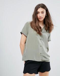 Рубашка с короткими рукавами Pieces Mallia - Зеленый