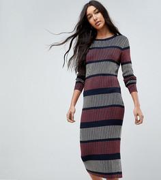 Трикотажное платье в полоску Vero Moda Tall - Темно-синий